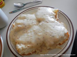 tender biscuits and gravy