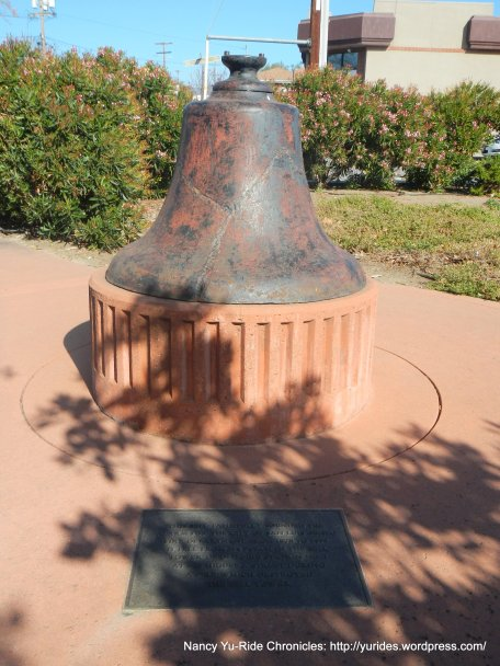 Old bell from Bell tower at fire station