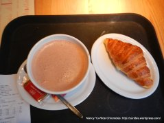 hot chocolate & croissant
