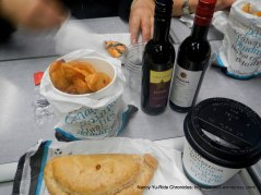 pasty & chips, wine