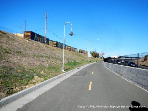onto Bike/ped path across bridge