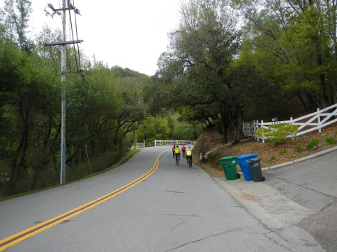 climb up Indian Valley Rd