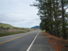 short rise on Nicasio Valley Rd