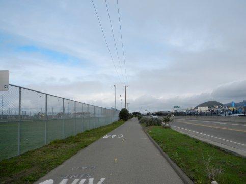 on SF Bay Trail-Bates Sports Fields