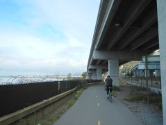on SF Bay Trail-under I-580