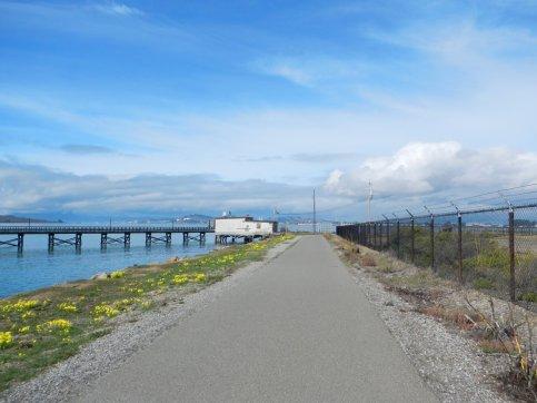 Sf Bay Trail along EBMUD Treatment Plant