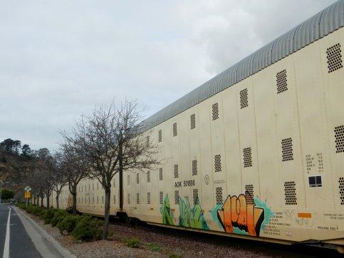 boxcar along Canal Blvd