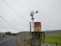 Collier Canyon Rd-old water tower/windmill