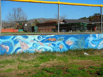 murals at Contratti Park Baseball Field