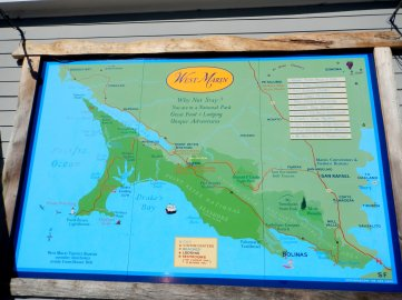 map of West Marin