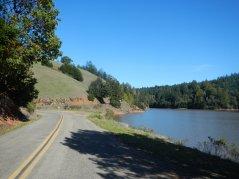 gradual climb along the lake