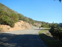 Fairfax Bolinas Rd-1 mile climb