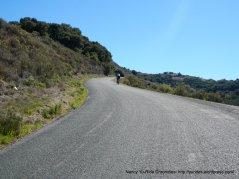 climb up Robinson Canyon-12-14% grades