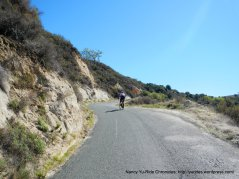 climb up Robinson Canyon-12-14% grades