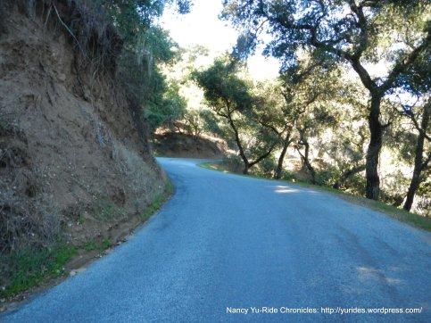 climb up Cachagua Rd