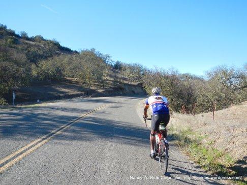 short climb thru gap-Carmel Valley Rd
