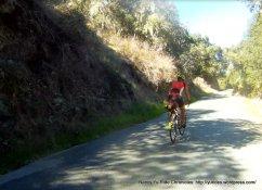 climb up Robinson Canyon-avg grade 9%