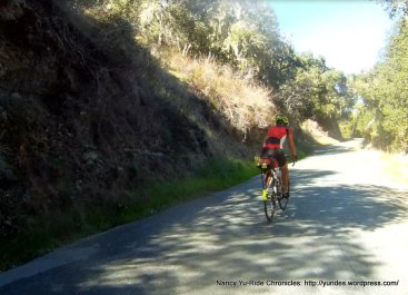 climb up Robinson Canyon-avg grade 9%