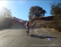 short climb thru gap-Carmel Valley Rd