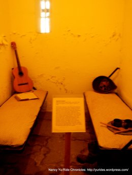inside Old Monterey Jail cell