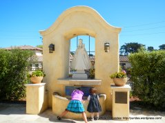 Royal Presidio Chapel outdoor fountain