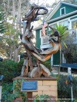 Cannery Row-driftwood sculpture