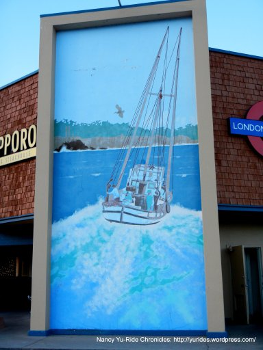 wharf mural