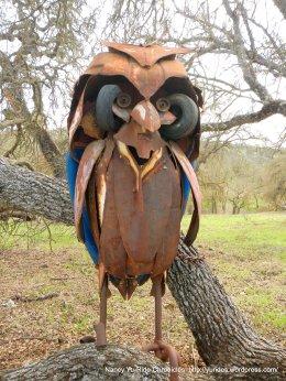 artsy owl sculpture