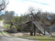 suspension bridge-R & E Ranch
