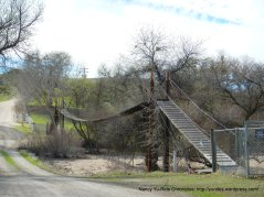 suspension bridge-R & E Ranch