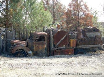 rusting vintage truck