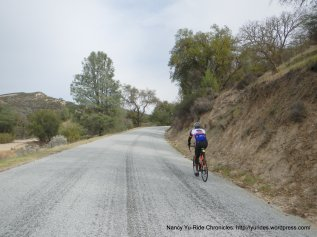 climb up Vineyard Canyon