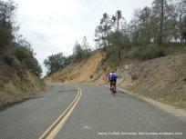 climb up Vineyard Canyon Rd to summit
