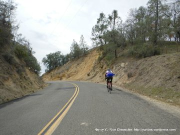 climb up Vineyard Canyon Rd to summit