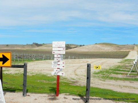 Cross Canyon Rd wine trail