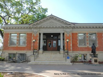 Circa 1907-08-red brick bldg with monumental columns-Andrew Carnegie's gift