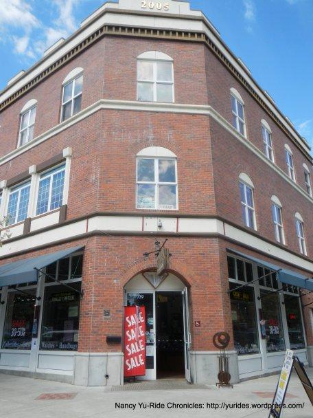 Circa 1901-Boys/Camera Corner flat roof brick building