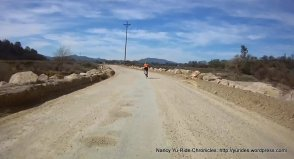 Halcon Rd-gravel section