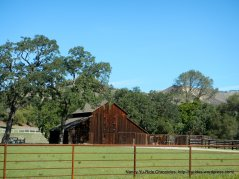 wooden ranch barn