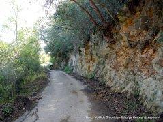 some pavement-narrow canyon