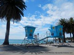 Refugio Beach lifeguard towers