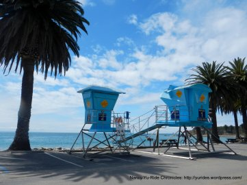 Refugio Beach lifeguard towers