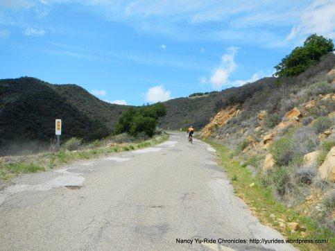 steep 15-18% climb