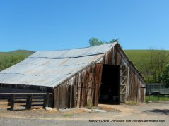 weathered wooden barn