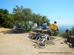 outdoor picnic area-cyclists