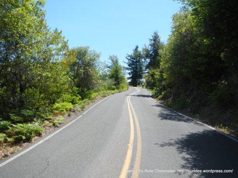 climb from summit-Ridgecrest Blvd