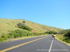 climb up Rocky Hill