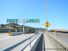multi-use path along off ramp US-101