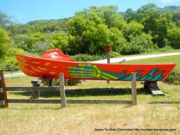 red boat off Pt Reyes Petaluma Rd