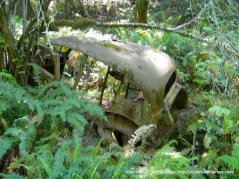 old abandoned vinatge car